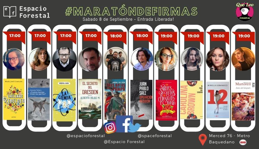 Librería Qué Leo Forestal realiza maratón de firmas de autores nacionales