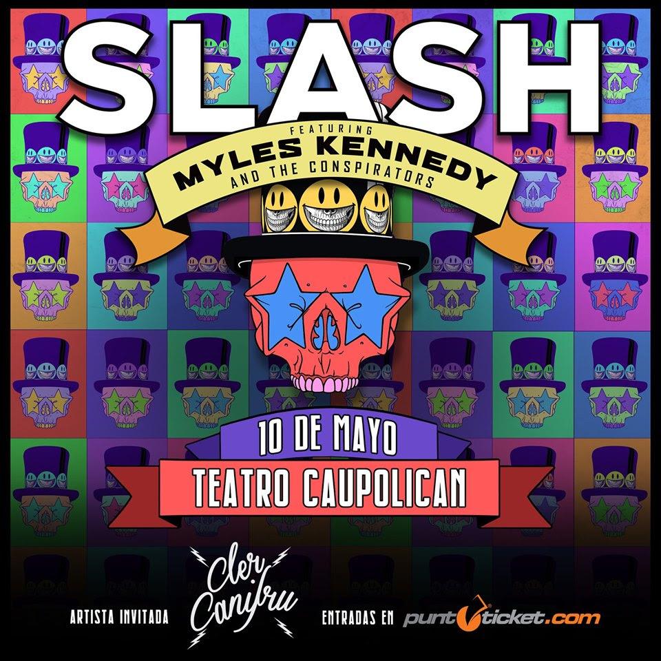 Cler Canifru abre concierto de Slash en Chile