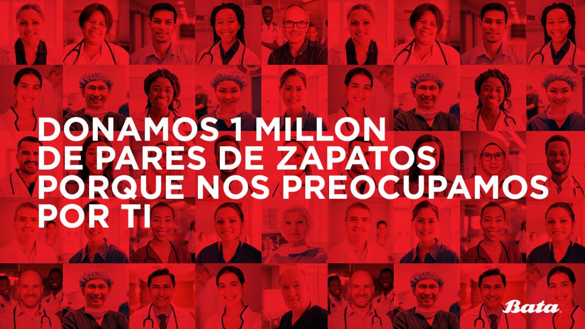 Bata dona 1 millón de pares de zapatos a trabajadores de la salud, voluntarios y organizaciones de caridad